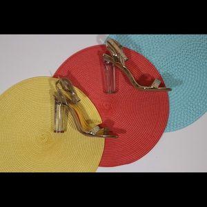 Shoes - Gold Block Heels